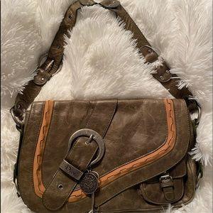 Vintage Christian Dior Leather Saddle Bag